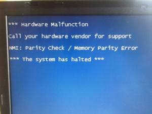 memory parity error bsod