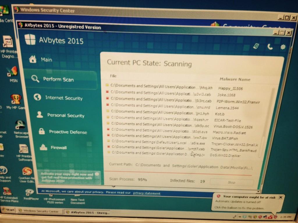 AVbytes virus removal
